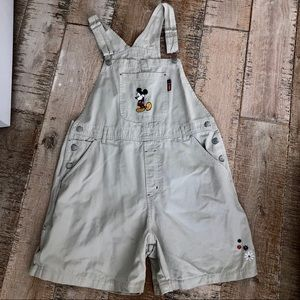 Mickey Unlimited  90's khaki short overall L